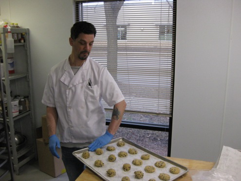 Alex keeping the cookies going